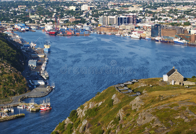 St Johns Harbour royalty free stock photo