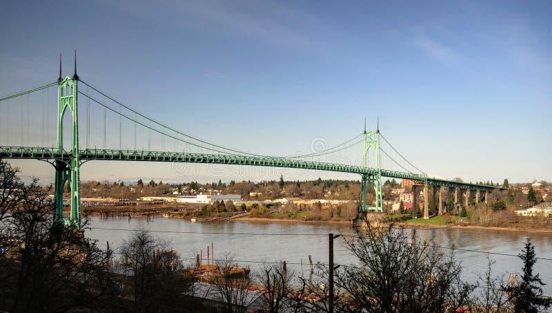 St.johns historic bridge. Beautiful st.johns historic bridge in portland stock images