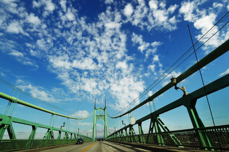 St. johns historic bridge. Beautiful st. johns historic bridge royalty free stock images