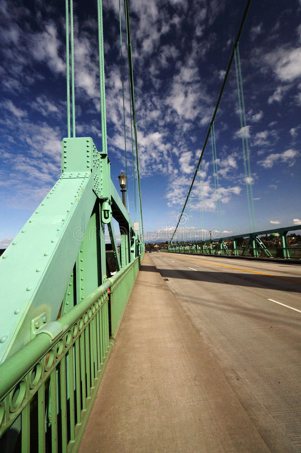 The st Johns historic bridge. The Road and the st Johns historic bridge royalty free stock photography