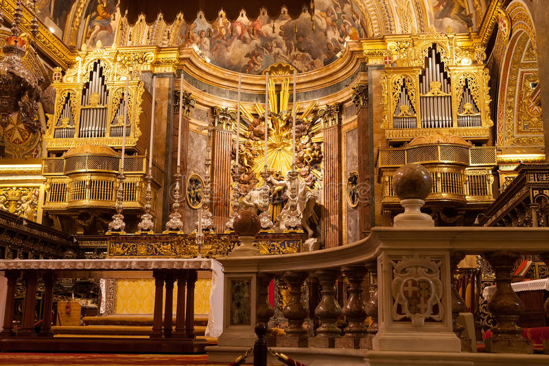 St Johns katedra, Malta fotografia stock