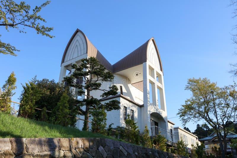 St Johns Kerk en Motomachi-districtscityscape stock fotografie