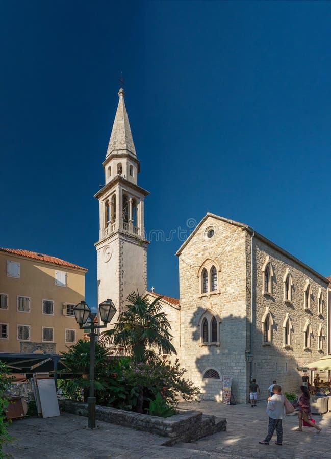 St Johns kościół w Budva, Montenegro fotografia royalty free