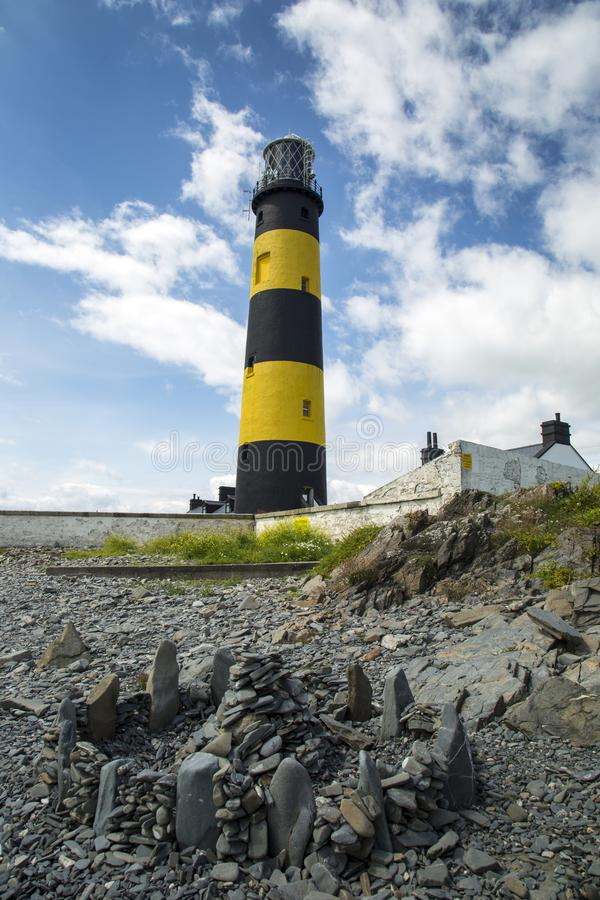 St Johns point light house. St.Johns point a well known light house in north ireland stock image
