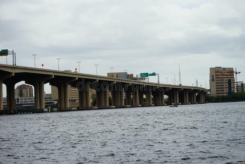 St johns river in Jacksonville City. St johns river of Jacksonville city in Florida, USA stock photography