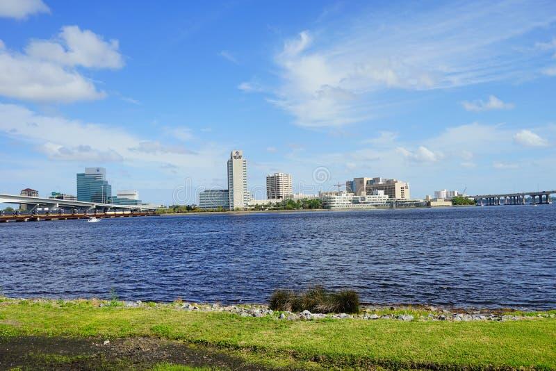 St johns river in Jacksonville City. St johns river of Jacksonville city in Florida, USA royalty free stock images