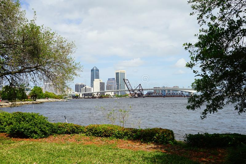 St johns river in Jacksonville City royalty free stock image