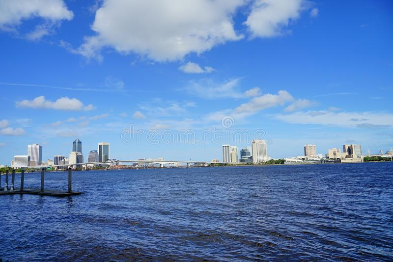St johns river in Jacksonville City stock images