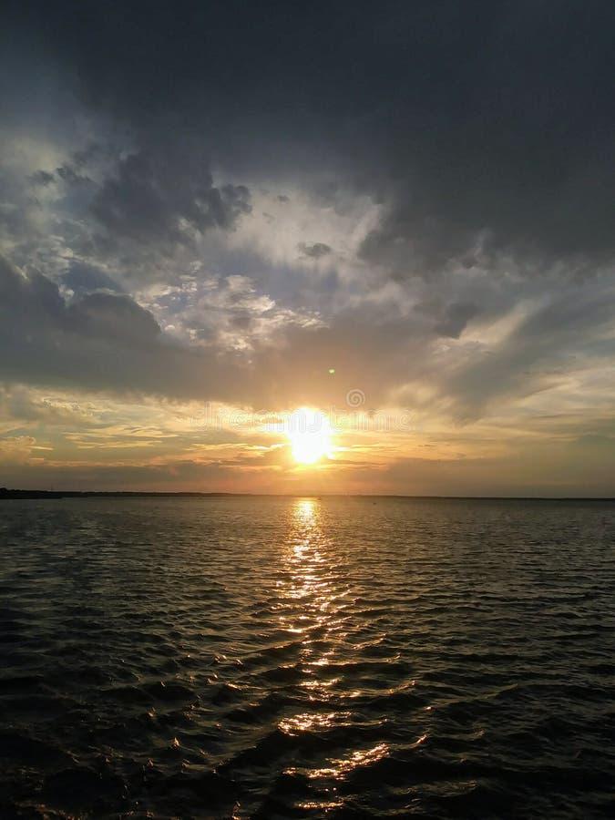 St johns river sunset. Florida sunset over the st. Johns river in sanford, florida stock image