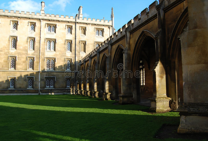 St Johns Universiteit, Cambridge, Engeland, het UK stock foto's