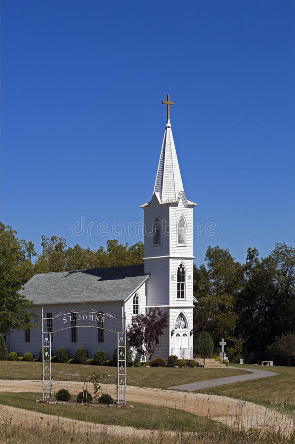 Download St. Johns White Church Stock Image - Image: 33731791