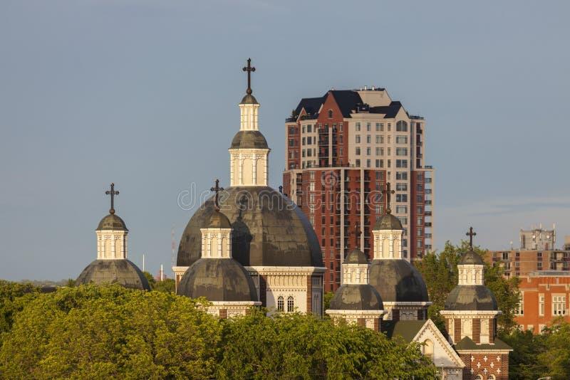 St. Josaphat Cathedral in Edmonton. St. Josaphat Ukrainian Catholic Cathedral in Edmonton. Edmonton, Alberta, Canada stock images