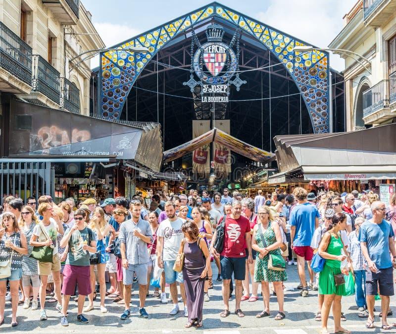 St Josep markt Barcelona royalty-vrije stock afbeelding
