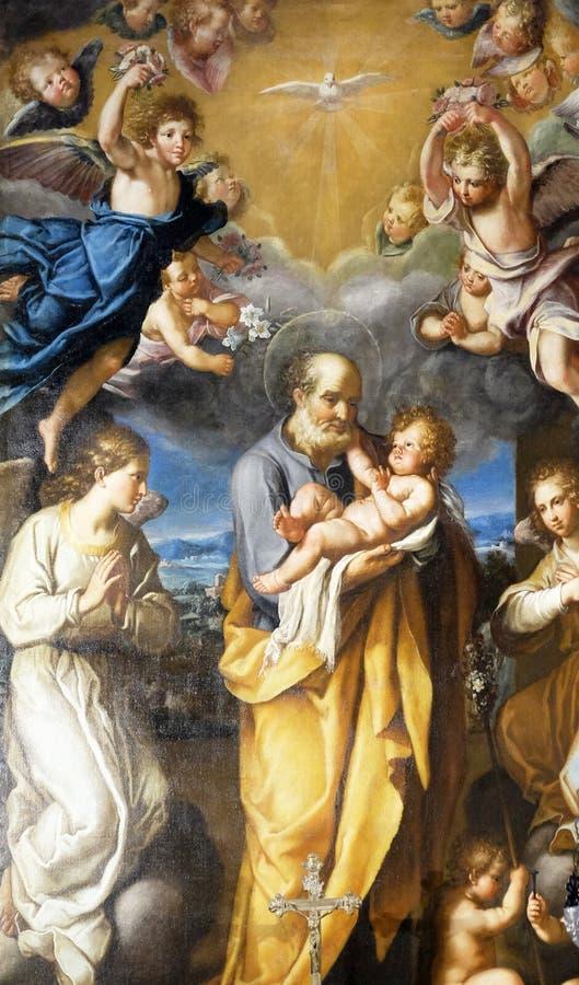 St Joseph с младенцем Иисусом стоковое фото
