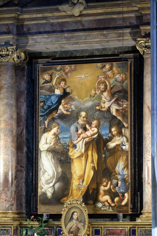 St Joseph с младенцем Иисусом стоковое изображение