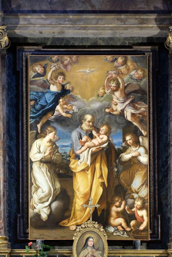 St Joseph с младенцем Иисусом стоковое фото rf