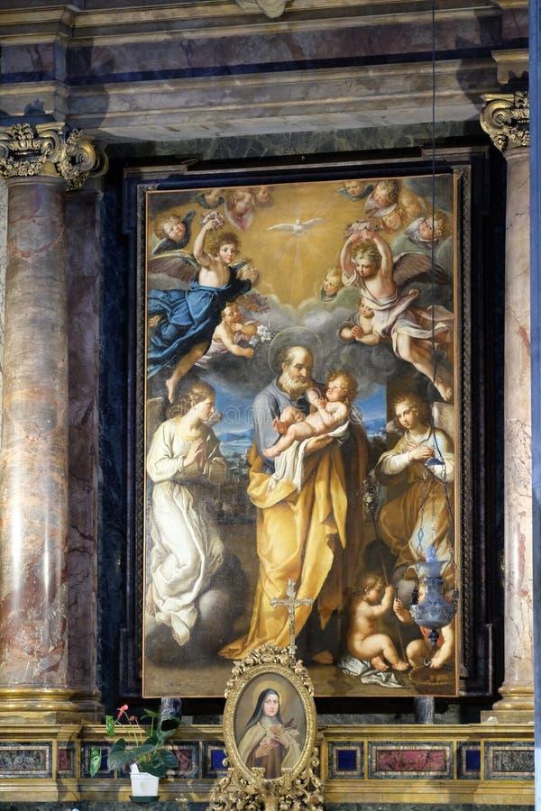 St Joseph с младенцем Иисусом стоковые изображения