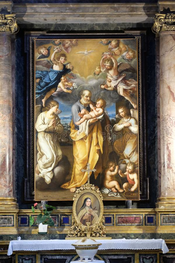 St Joseph with baby Jesus royalty free stock photography