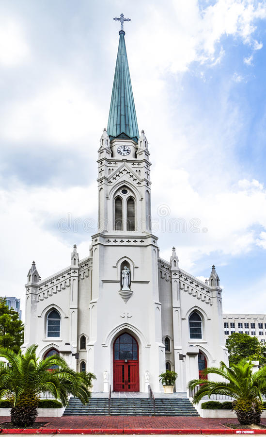 St Joseph Cathedral in Baton Rouge stock afbeeldingen