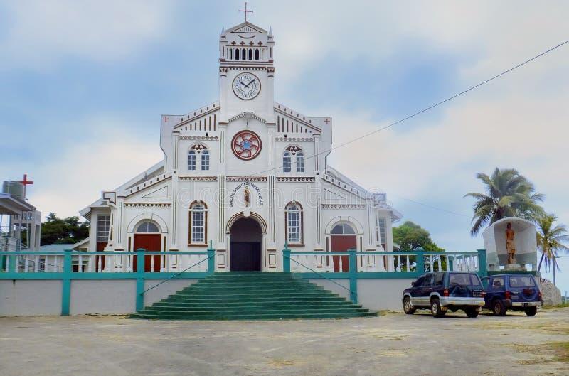 St Joseph Cathedral en Neiafu, Vavau, Tonga imagen de archivo