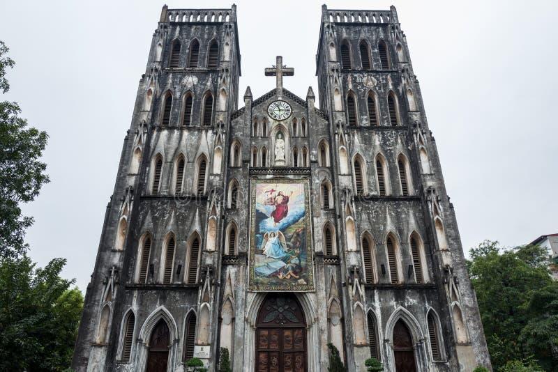 St Joseph Cathedral i Hanoi, Vietnam arkivfoto