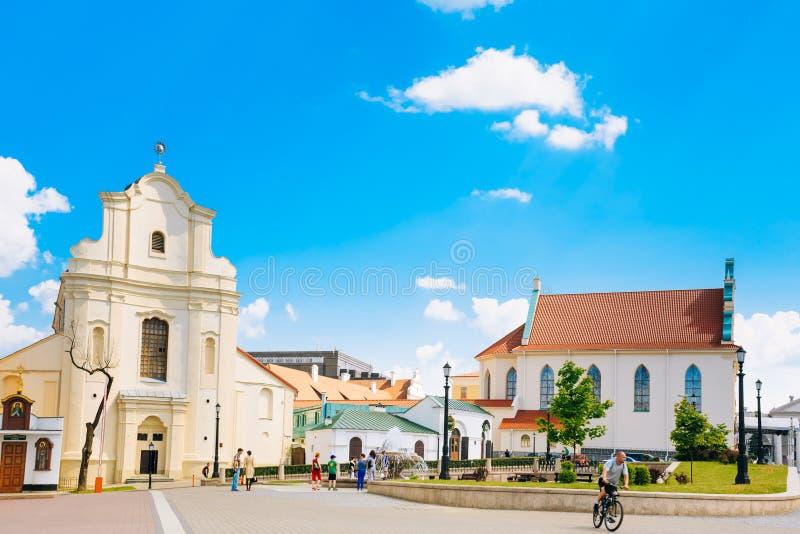 St Joseph Church em Minsk, Bielorrússia imagens de stock