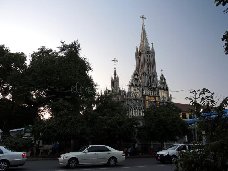 St Joseph Church en Mandalay/Birmania (Myanmar) fotos de archivo