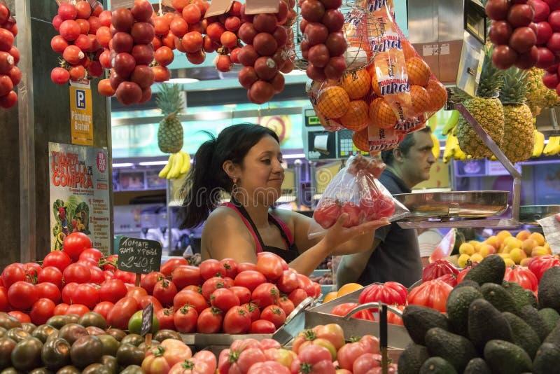 St Joseph Indoor Food Market - Barcelona - Spain stock photos