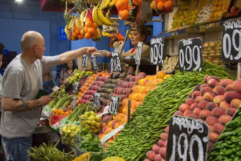St Joseph Food Market - Barcelona - Spain. stock image