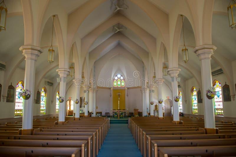 St Joseph kościół, Medway, Massachusetts, usa fotografia royalty free