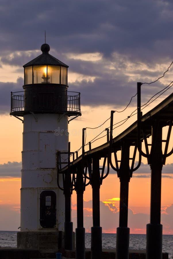 Download St. Joseph Light House At Dusk Stock Image - Image: 6766805