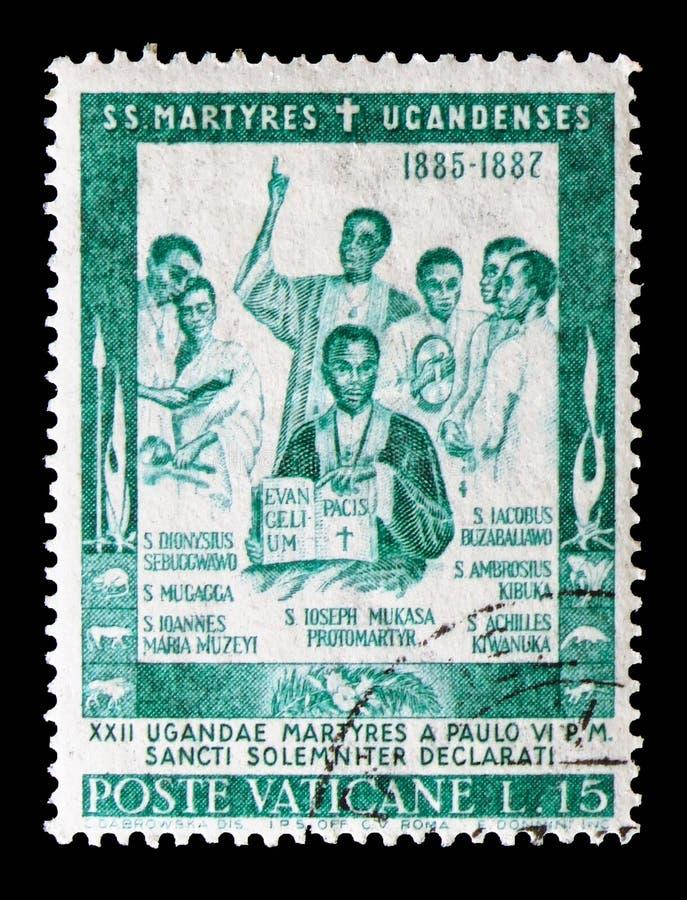St Joseph Moussaka, sanctification des martyres du serie de l'Ouganda, vers 1965 photos libres de droits