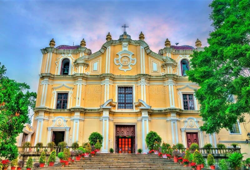 St. Joseph Seminary und Kirche in Macao, China stockfoto