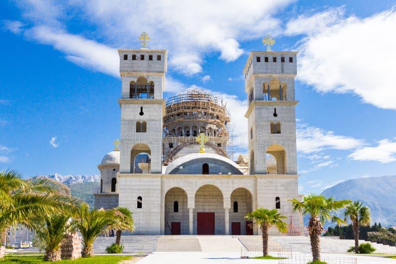 St Jovan Vladimir kerk in Bar, Montenegro royalty-vrije stock fotografie