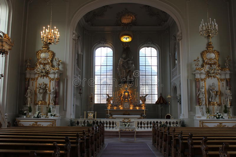 St Juan de la basílica en Sarrebruck fotos de archivo libres de regalías