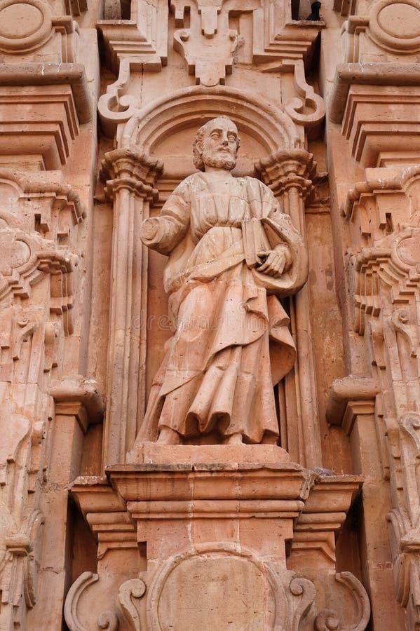 St Jude sneed in steen in een kerk Guanajuato Mexico royalty-vrije stock afbeeldingen