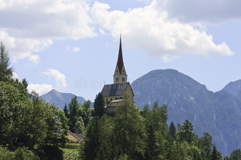 St Justina Church near Assling in Austria royalty free stock photos