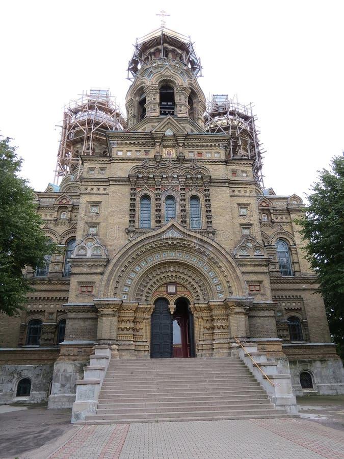 St. Katedra Ortodoksalna Denna Nicholas, Latvia zdjęcia stock