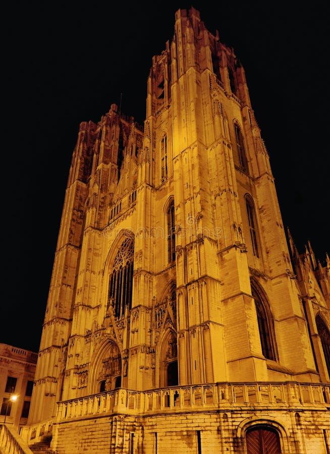 St. Kathedraal Michael en Gudula stock foto's