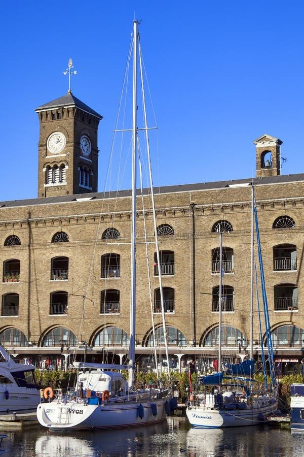 St Katherine Dock, Londen stock foto