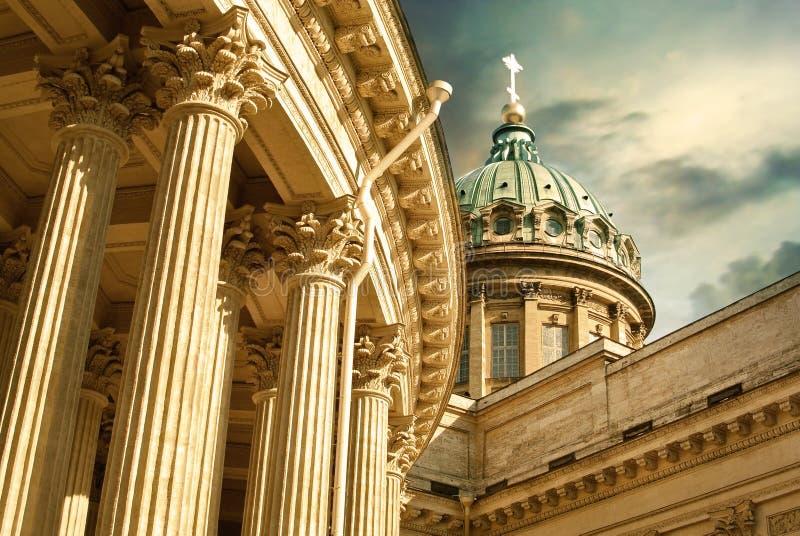 st kazan petersburg России собора стоковое изображение