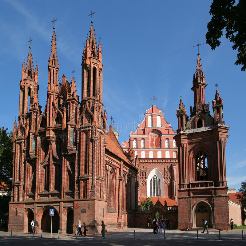 St. Kerk Anne en Bernardinu in Vilnius royalty-vrije stock foto's
