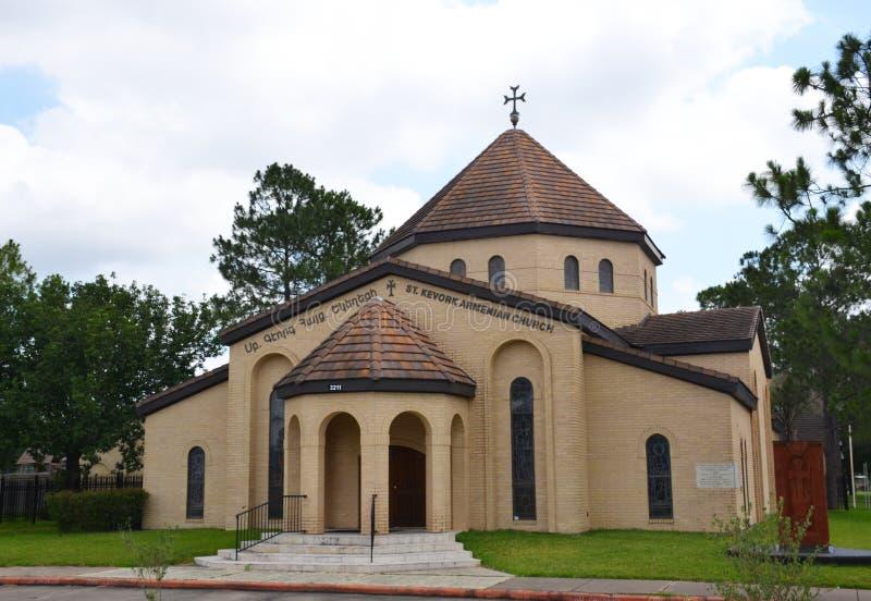 St Kevork Armenian Church em Houston, TX, EUA fotografia de stock royalty free