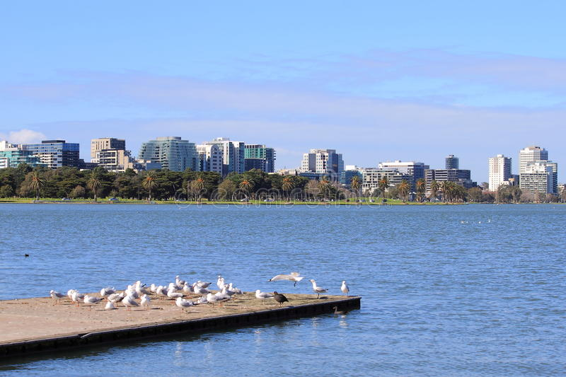 St. Kilda Albert Park Melbourne stockfotos