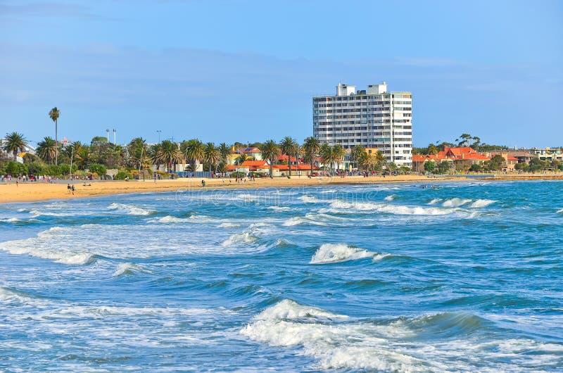 St. Kilda Beach in Melbourne, Australien stockfoto