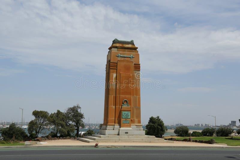 St Kilda Cenotaph War Memorial arkivbilder