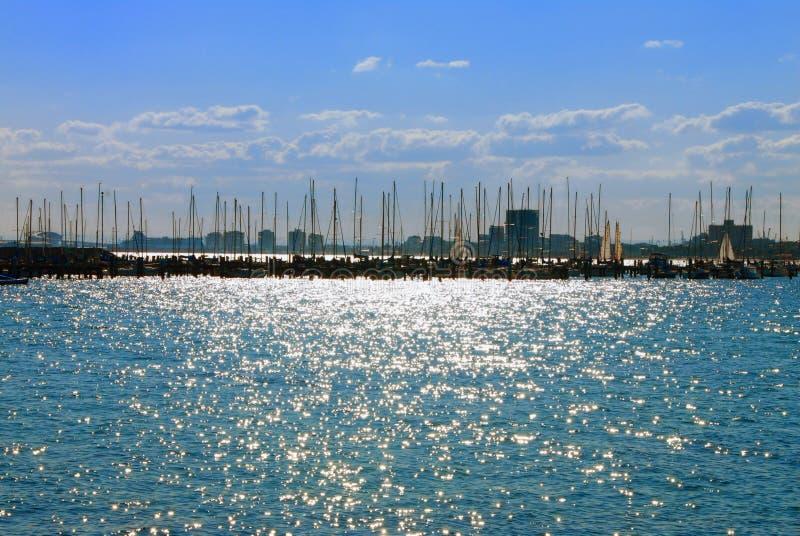 St. Kilda Harbour, Melbourne, Australia royalty free stock photos