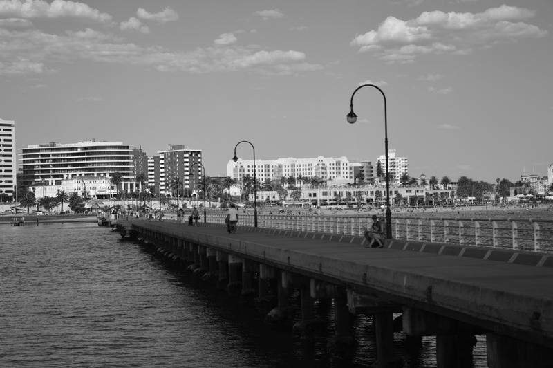 St Kilda Pier Melbourne foto de stock