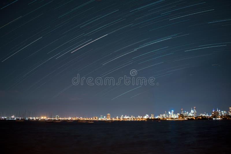 St Kilda star trail royalty free stock photography