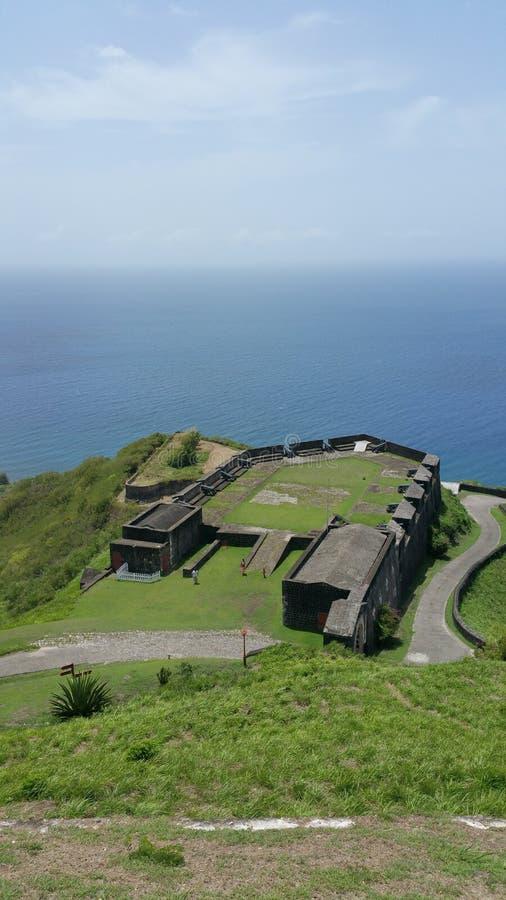 St Kitts - Brimstone wzgórza fortecy park narodowy zdjęcie stock